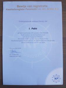 Pabis Health voldoet aan kwaliteitseisen